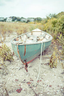 Skiff Wall Art - Photograph - Old Wooden Skiff Hyannis Port Cape Cod by Edward Fielding