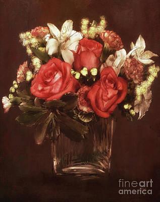 Digital Art - Old World Bouquet by Lois Bryan