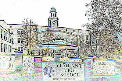 Photograph - Old Ypsi High by Pat Cook