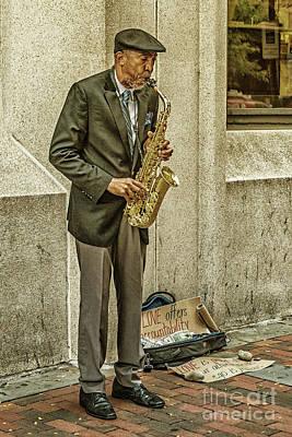 Photograph - Olde City Street Musician by Nick Zelinsky