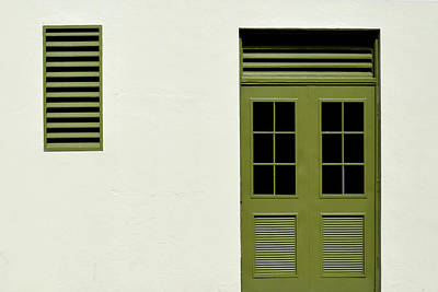 Photograph - Olive Doors And Grille by Stuart Allen
