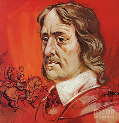 Painting - Oliver Cromwell Portrait by Angus McBride