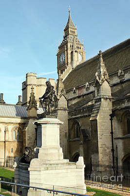Photograph - Oliver Cromwell Statue London by Terri Waters