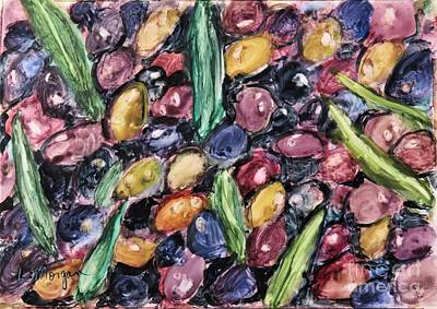 Painting - Olives Ready For Pressing by Laurie Morgan