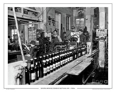 Photograph - Olympia Brewing Company Bottling Line, 1920ca by Joe Jeffers