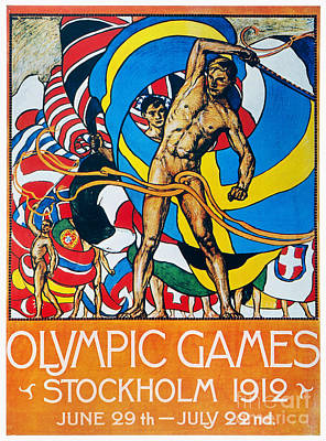 Photograph - Olympic Games Poster, 1912 by Granger