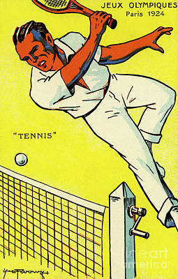 Drawing - Olympics 1924 Paris France Tennis Championship by French School