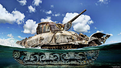 Photograph - Omaha Beach Dd Sherman Tank  by Weston Westmoreland