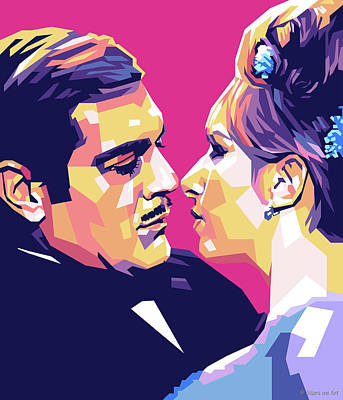 Royalty-Free and Rights-Managed Images - Omar Sharif and Barbra Streisand by Stars on Art