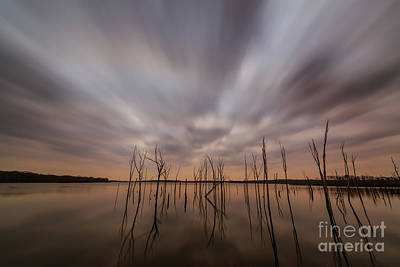 Photograph - Ominous Manasquan Reservoir  by Michael Ver Sprill