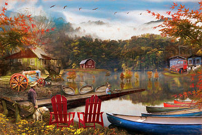 Photograph - On A Peaceful Country Evening Painting by Debra and Dave Vanderlaan