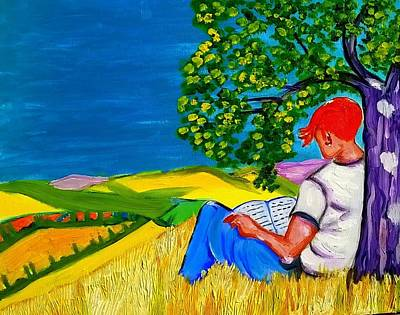 Painting - On A Provencal Hill by Rusty Gladdish