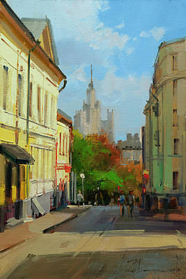Painting - On A Visit To The Artist Arkhipov. B. Spasoglinischevsky Lane by Alexey Shalaev