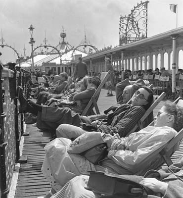 Photograph - On Brighton Pier by Raymond Kleboe/charles Hewitt