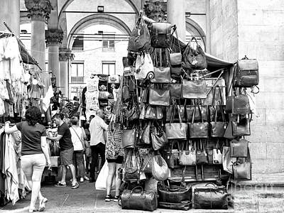 Photograph - On Display At The Loggia Del Mercato Nuovo Florence by John Rizzuto