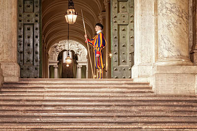 Photograph - On Guard At The Vatican by Jacqui Boonstra