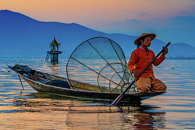 Photograph - On Inle Lake by Chris Lord