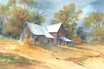 Wall Art - Painting - On Jackson Road by Carolyn Shores Wright