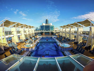 Photograph - On Large Cruise Ship To Alaska In Pacific Ocean by Alex Grichenko