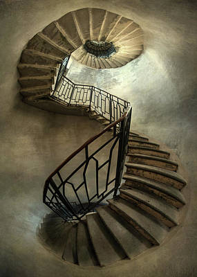 Photograph - An Old Staircase by Jaroslaw Blaminsky