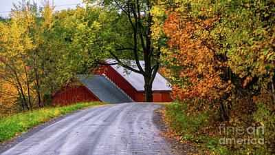 Photograph - On The Back Roads Of Berlin Vermont. by New England Photography