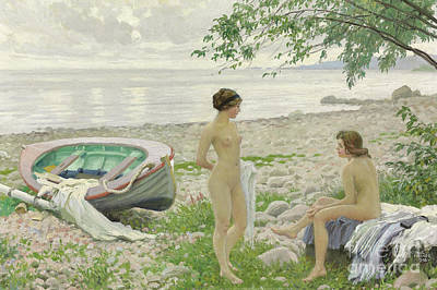 Painting - On The Beach, 1916 by Paul Fischer