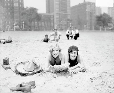 Photograph - On The Beach In Chicago by Chicago History Museum