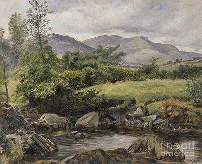 Painting - On The Colwyn, Beddgelert, 1881 by Frederick William Hayes