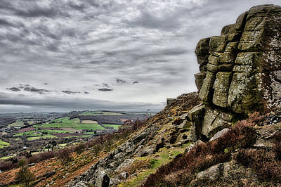 Photograph - On The Edge At Curbar Edge by Scott Lyons