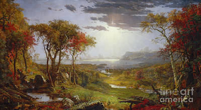 Painting - On The Hudson River, 1860 by Jasper Francis Cropsey