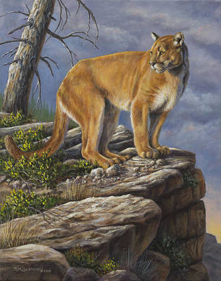 Painting - On The Hunt by Kim Lockman