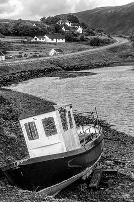 Photograph - On The Scottish Shoreline In Black And White by Debra and Dave Vanderlaan