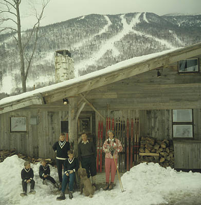 Vermont Photograph - On The Slopes In Stowe by Slim Aarons