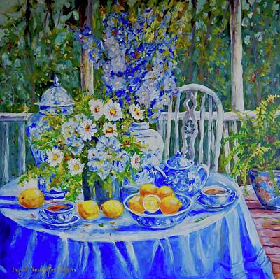 Painting - On The Terrace by Ingrid Dohm