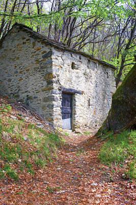 State Love Nancy Ingersoll - On the Trail to Rifugio Menaggio Lake Como Italy by Joan Carroll