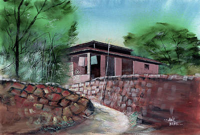 Painting - On  The Way 3 by Anil Nene