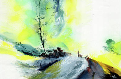 Painting - On The Way To Office by Anil Nene