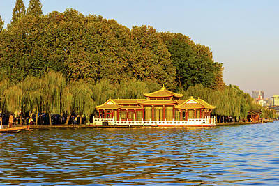 Photograph - On The West Lake, Hangzhou, China by Aashish Vaidya