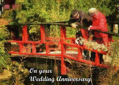 Mixed Media - On Your Wedding Anniversary by Dorothy Berry-Lound