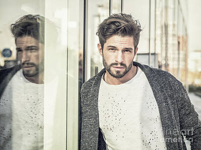 All You Need Is Love - One attractive man in city environment wearing cardigan by Stefano Cavoretto