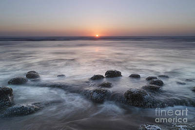 Beach Royalty-Free and Rights-Managed Images - One Day at Sunset by Masako Metz