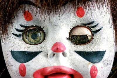 Photograph - One Eye Shut Clown by John Rizzuto