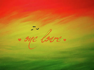One Love Art Print