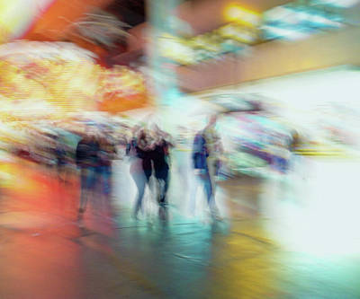 Photograph - One Night On Fremont Street by Alex Lapidus