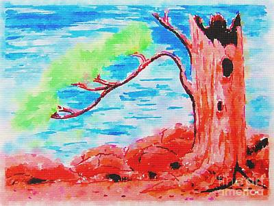 Painting - One Old Tree by Delynn Addams
