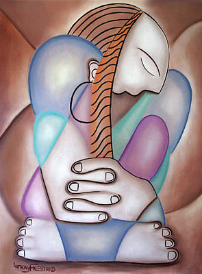 Painting - One Praying Woman by Anthony Falbo