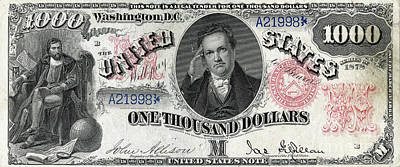 Photograph - One Thousand Dollar United States Note 1878 Series 20190221 by Wingsdomain Art and Photography