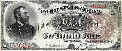 Photograph - One Thousand Dollar United States Note 1890 Series 20190221 by Wingsdomain Art and Photography