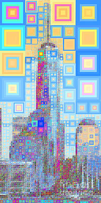 Photograph - One World Trade Center Lower Manhatten New York Skyline In Abstract Squares 20190205long P168 by Wingsdomain Art and Photography