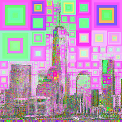 Photograph - One World Trade Center Lower Manhatten New York Skyline In Abstract Squares 20190205sq M100 by Wingsdomain Art and Photography